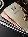 Pour Samsung Galaxy Coque Plaque Miroir Coque Coque Arriere Coque Couleur Pleine Dur Polycarbonate pour SamsungS7 edge S7 S6 edge plus S6