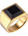 Men\'s Fashion 316L Titanium Steel Personality Vintage Gem Rings 8 9 10 11 12 Casual/Daily 1pc