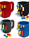 blocos de construcao do drinkware canecas caneca do enigma do bloco do diy caneca caneca de cafe do estilo da construcao do tijolo