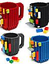 Drinkware Building blocks mugs diy block puzzle mug