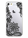 Pour iPhone X iPhone 8 Etuis coque Ultrafine Transparente Motif Coque Arriere Coque Impression de dentelle Flexible PUT pour Apple iPhone