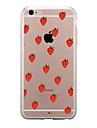 Para iPhone X iPhone 8 iPhone 8 Plus Case Tampa Transparente Estampada Capa Traseira Capinha Fruta Macia PUT para Apple iPhone X iPhone 8