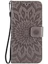 For Moto G4 Play Z Force Card Holder Wallet Flip Embossed Case Full Body Case Sunflower Hard PU Leather for G2 X Style G4