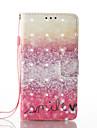 Samsung galaxy a5 (2017) a3 (2017) 3d efeito cenario padrao PU material carteira secao telefone caso para a510 a310