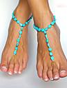 Femme Bracelet de cheville/Bracelet Emeraude Simple Style Europeen bijoux de fantaisie Bijoux Pour Quotidien Decontracte Regalos de