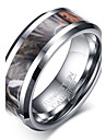 Men\'s Ring Basic Euramerican Fashion Personalized Tungsten Steel Luxury Casual Jewelry For Simple Party Finger Rings