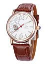 Жен. Модные часы Механические часы Кварцевый Кожа Группа Черный Коричневый Розовый