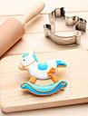 1 Molde Bebe de sono Desenhos Animados 3D Para Bolo Para Pao Para Biscoito para Sandwich Para Chocolate Aco Inoxidavel3D Alta qualidade