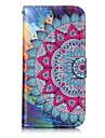 For iPhone X iPhone 8 Case Cover Card Holder Wallet with Stand Flip Embossed Pattern Magnetic Full Body Case Mandala Hard PU Leather for