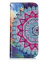 Pour iPhone X iPhone 8 Etuis coque Porte Carte Portefeuille Avec Support Clapet Relief Motif Magnetique Coque Integrale Coque Mandala Dur