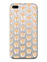 Pour iPhone X iPhone 8 Etuis coque Transparente Motif Coque Arriere Coque Carreau vernise Animal Flexible PUT pour Apple iPhone X iPhone