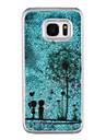 For Samsung Galaxy S8 Plus S8 Phone Case Dandelion Pattern Flowing Quicksand Liquid Glitter Plastic PC Materia S7 edge S7