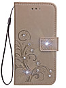 Case For Samsung Galaxy S6 Edge S6 Case Card Holder Wallet with Stand Flip Embossed Full Body Case Solid Color Flower Hard PU Leather for S3 S4 S5