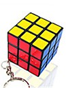 Rubik\'s Cube Cubo Macio de Velocidade Etiqueta lisa Cubos Magicos Porta-Chaves Plasticos