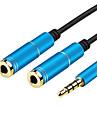 3,5 mm para auscultadores estereo microfone de audio 1 macho para 2 femeas y adapte cabo divisor para o tablet PC telefone portatil (0,28M