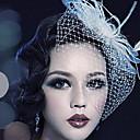 hesapli Saç Takıları-Tül / Kristal / Tüy  -  Tiaras / Kuş kafesi örtüleri 1 Düğün / Özel Anlar / Parti / Gece Başlık / Kumaş
