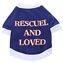 voordelige Hondenkleding & -accessoires-Hond T-shirt Hondenkleding Letter & Nummer Katoen Kostuum Voor Lente & Herfst Zomer Heren Dames Casual / Dagelijks