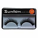 Buy 1 Pair Black False Eyelashes Lengthening Thicker Fiber Natural Looking Curved Lashes Eye