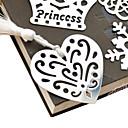 ieftine Papetărie-Gol-out în formă de inimă Tassel Metal Bookmark