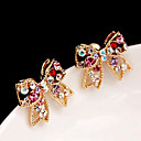 cheap Women's Watches-Women's Stud Earrings - Rhinestone Love, Bowknot Luxury, Cute Golden For Party Daily Casual