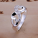 cheap Rings-Women's Statement Ring - Silver Plated, Alloy Infinity Personalized, Luxury, Unique Design 6 / 7 / 8 / 9 / 10 Silver For Wedding Party Gift