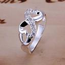 hesapli Yüzükler-Kadın's Bildiri Yüzüğü - Gümüş Kaplama, alaşım Sonsuzluk Kişiselleştirilmiş, Lüks, Eşsiz Tasarım 6 / 7 / 8 Gümüş Uyumluluk Düğün / Parti / Hediye