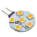 olcso LED betűzős izzók-SENCART 60-80lm G4 6 LED gyöngyök SMD 5050 Meleg fehér 12V / #