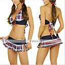 ieftine Petrecere & Bal-Pentru femei Uniforme Uniforme școlare Sex Costume Cosplay Plisat Geacă Rochie / Spandex