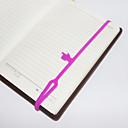 Недорогие Офисные принадлежности-силиконовые охраны окружающей среды упругие закладки палец (случайный цвет)