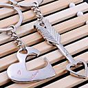 זול מחזיקי מפתחות-לב שרשרת מפתחות LOVE כסוף, סגסוגת אהבה עבור מתנה