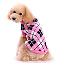 cheap Dog Clothing & Accessories-Dog Sweater Dog Clothes Plaid / Check Pink Woolen Costume For Spring &  Fall Winter Men's Women's Keep Warm