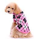 hesapli Köpek Oyuncakları-Köpek Kazaklar Köpek Giyimi Sevimli Sıcak Tutma Kareli Pembe Kostüm Evcil hayvanlar için