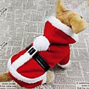 hesapli Keseler ve Kutular-Köpek Kostümler Paltolar Kapüşonlu Giyecekler Köpek Giyimi Solid Kırmzı Pamuk Kostüm Evcil hayvanlar için Erkek Kadın's Cosplay Noel