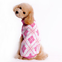 cheap Dog Clothing & Accessories-Dog Sweater Dog Clothes Plaid/Check Blue Pink Costume For Pets