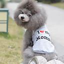 ieftine Imbracaminte & Accesorii Căței-Pisici Câine Tricou Îmbrăcăminte Câini Inimă Gri Bumbac Costume Pentru Primăvara & toamnă Vară Bărbați Pentru femei Gril pe Kamado Casul / Zilnic