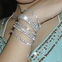 abordables Bracelets-Homme Cristal Bracelets de tennis - Cristal, Plaqué argent, Imitation Diamant Original, Mode Bracelet Argent Pour Soirée Quotidien Décontracté
