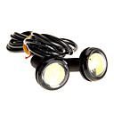 olcso LED csapvilágítás-Pár 3W High Power LED Ultra-vékony LED Eagle Eye hátsó lámpa Backup hátsó lámpa fehér szín 2786