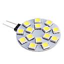 baratos Luminárias de LED  Duplo-Pin-480 lm G4 Lâmpadas de Foco de LED 15 leds SMD 5050 Branco Quente Branco Frio DC 12V