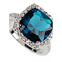 Buy Fashion 925 Silver Plated Copper Zircon Ring