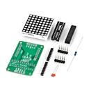 baratos Terminais e Conectores-diy MAX7219 led vermelho módulo display de matriz for (para arduino) (funciona com placas oficiais (para arduino))