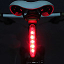 cheap Bike Lights-LED Bike Light Rear Bike Tail Light Safety Light Tail Light Cycling LED Light AAA Battery Cycling / Bike - MOON / IPX-4