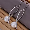 tanie Zestawy biżuterii-Damskie Kolczyki wiszące - Posrebrzany Silver Na Codzienny / Casual