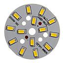 hesapli LEDler-Zdm 1 adet 7 w 500-550lm 14x5730 smd led yama led ışık kaynağı kurulu sıcak beyaz ışık 3000-3500 k alüminyum substrat (dc21-24v, 300ma)