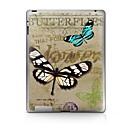 hesapli iPad Stickerları-1 parça Arka Koruyucu için Kelebek iPad 2 iPad 3 iPad 4