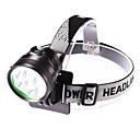 cheap Bike Lights-Headlamps Headlight LED 3500 lm 3 Mode LED with Battery and Charger Adjustable Focus Waterproof Camping/Hiking/Caving Everyday Use