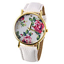 cheap iPhone Cases-Women's Wrist Watch Quartz Casual Watch PU Band Analog Flower Fashion Black / White / Blue - Red Green Blue