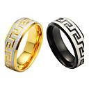 ieftine Inele-Band Ring 1 buc Negru / Auriu Oțel titan Circle Shape Clasic Petrecere / Zilnic / Casual Costum de bijuterii / Sport