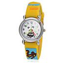 hesapli Erkek Saatleri-Kadın's Gündelik Saatler / Moda Saat Japonca Gündelik Saatler Silikon Bant Karikatür Sarı / İki yıl