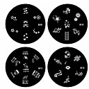 cheap Makeup & Nail Care-1pcs nail art stamp stamping image template plate b series no 9 12 assorted pattern