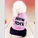 رخيصةأون كماشة-كلب T-skjorte ملابس الكلاب وردي أزرق قطن كوستيوم من أجل الشتاء